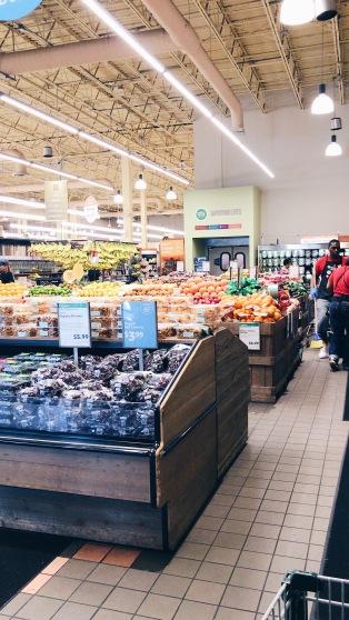 verduras, frutas y productos orgánicos